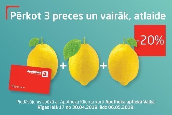 Izmanto pavasara piedavajumu Apotheka aptiekā Valkā!
