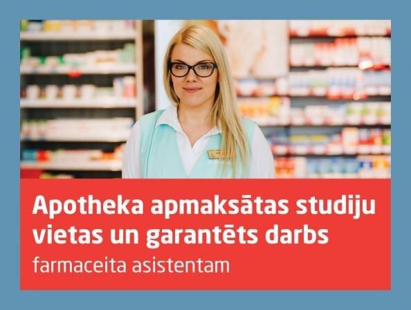 Aicina pieteikties apmaksātām studijām un garantētai darbavietai aptiekā
